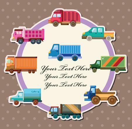 cisterns: truck card Illustration