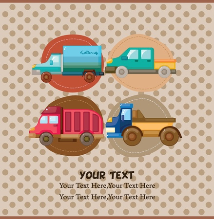 truck card Stock Vector - 11383174