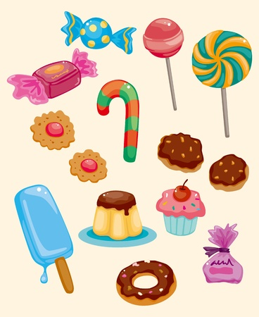 algodon de azucar: de dibujos animados icono de dulces