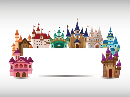kingdom: cartoon castle card