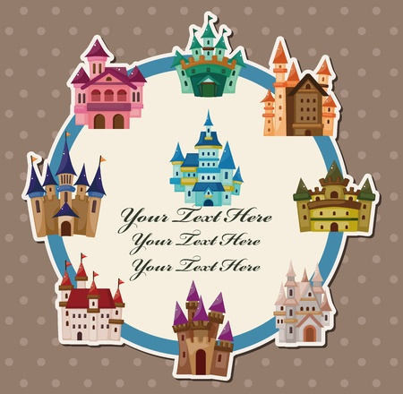 cartoon castle card Vector