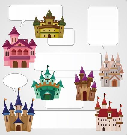 fairy story: carta cartone animato castello Vettoriali