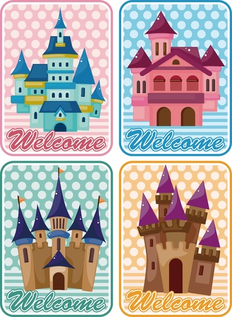 cartoon castle card Stock Vector - 11529475