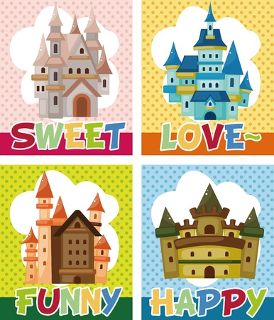 cartoon castle card Stock Vector - 11529640