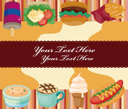 Cartoon fast-food card Vector