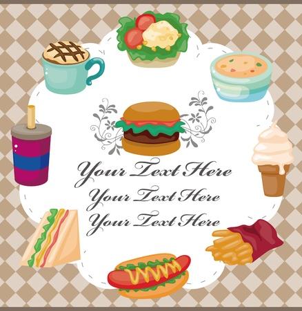junkfood: Cartoon fast-food card