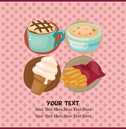 Cartoon fast-food card Stock Vector - 11529631