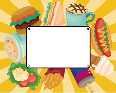 dinner party: Cartoon fast-food card