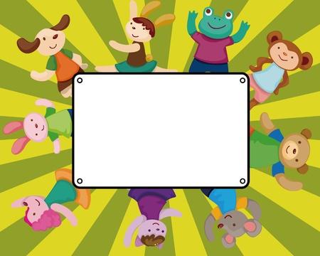 cartoon animal dancer seamless pattern Stock Vector - 11529612