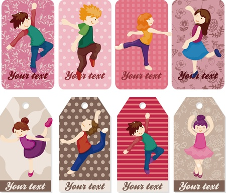 cartoon dancer card