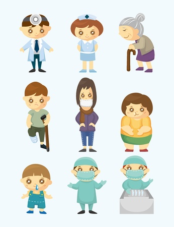 Doctors and Patient people Stock Vector - 11529529