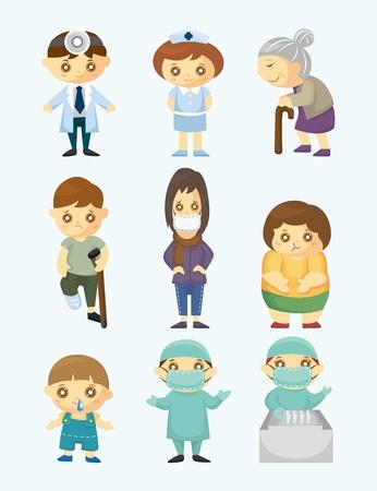 doctors and patient: Los m�dicos y los pacientes