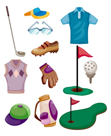 cartoon golf icon  Vector