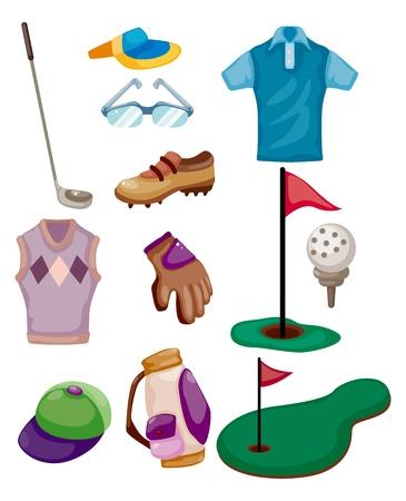 putter: cartoon golf icon  Illustration