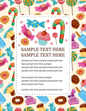 candy background: candy card