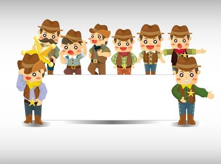 riding boot: cartoon cowboy card