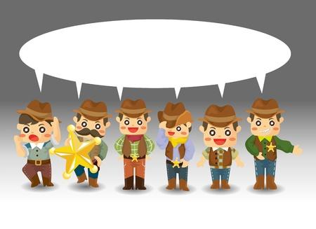 cartoon cowboy card Stock Vector - 11659875