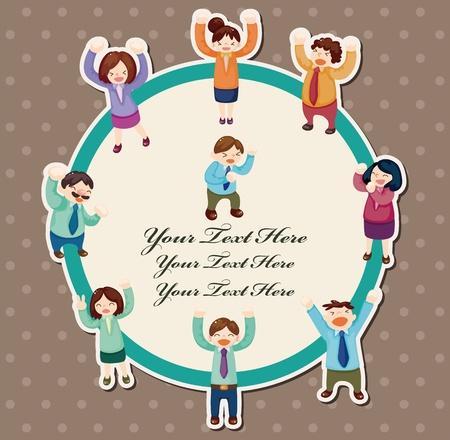 만화 행복 직장인 카드