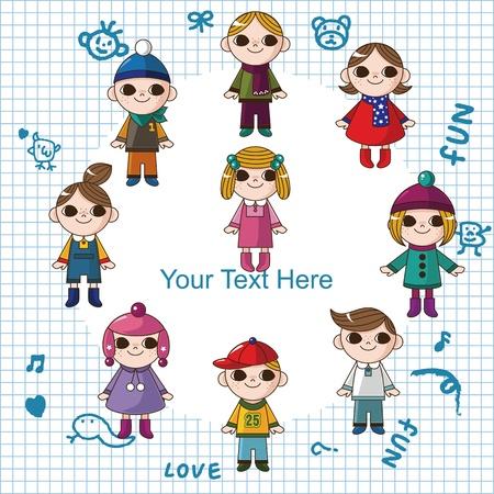 winter children card Vector