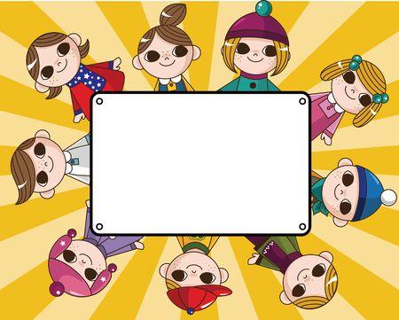 well being: winter children card