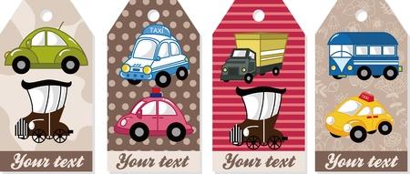 만화 자동차 카드
