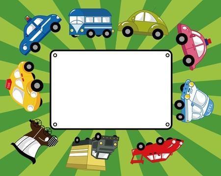 emergency vehicle: fumetto auto scheda Vettoriali