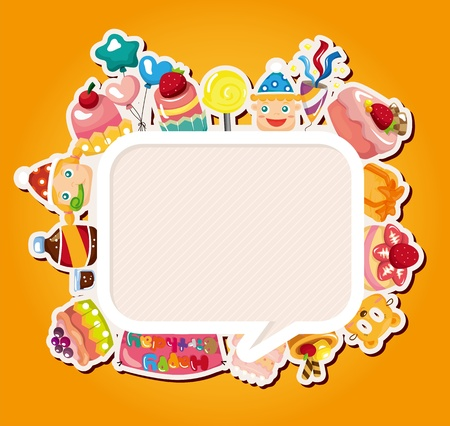 fancy pastry: birthday card  Illustration