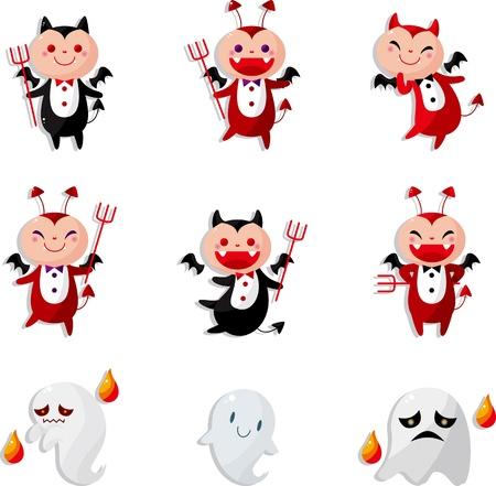 cartoon devil icon  Vector