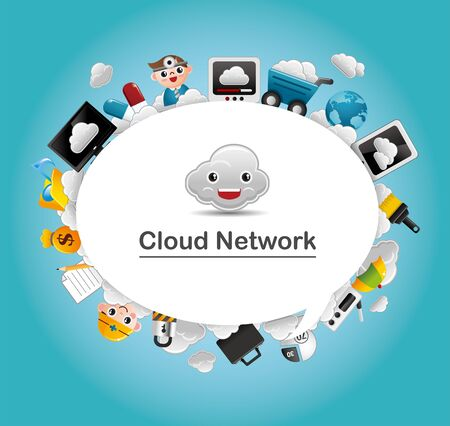 Cloud network card  Vector