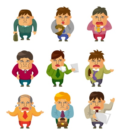 Tired businessman Stock Vector - 11810302