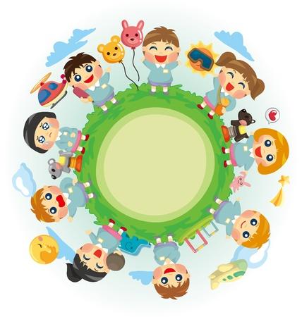 vie �tudiante: enfant heureux du monde