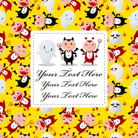 cartoon devil card Stock Vector - 11810394