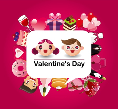 cartoon love card Vector