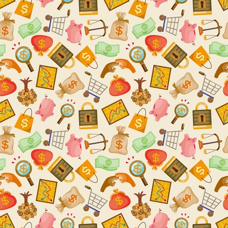 cartoon Finance & Money seamless pattern  Vector