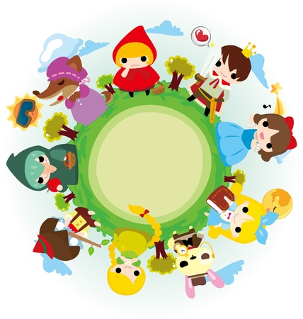 cartoon story people around world Vector