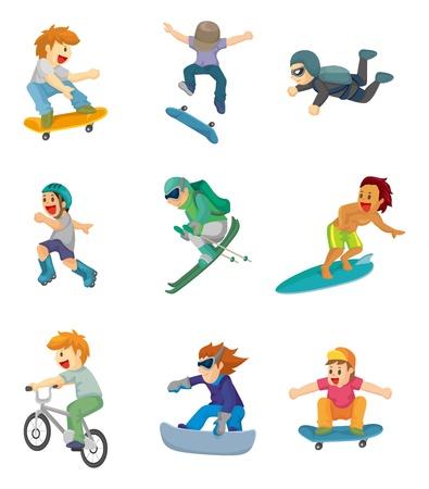 cartoon Extreme sport icon Stock Vector - 11878934