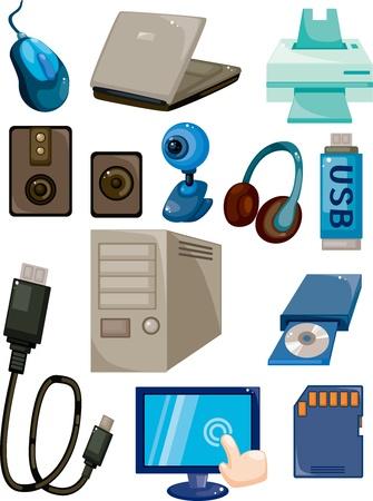 usb drive: cartoon computer icon