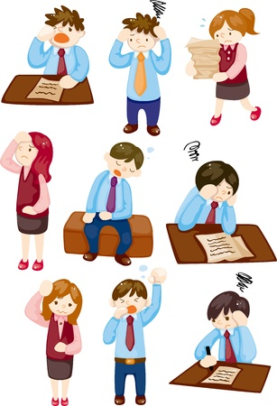 Tired businessman Stock Vector - 11880676