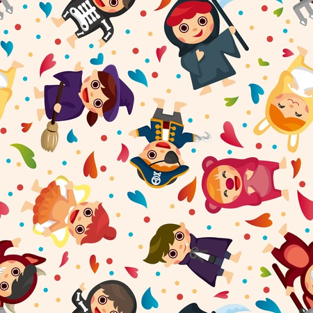 costume party seamless pattern Stock Vector - 11917803