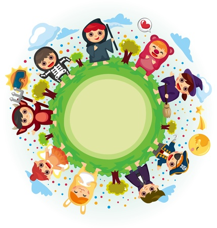 costume party around world Stock Vector - 11917805