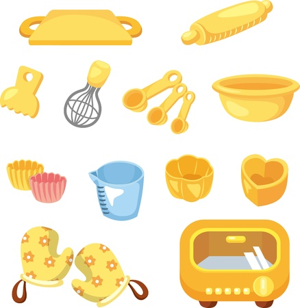 cartoon Bake tool icon Vector
