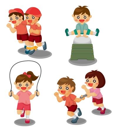 relevos: estudiante de juego del deporte