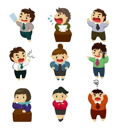 empresario triste: oficina infeliz conjunto de los trabajadores Vectores