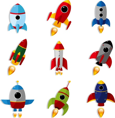 cartoon spaceship icon Stock Vector - 12030897