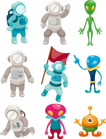 universo: alien and astronaut icons