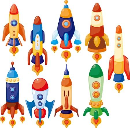 cohetes: de dibujos animados icono de nave espacial