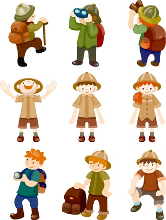 adventurer: set of Adventurer people Illustration