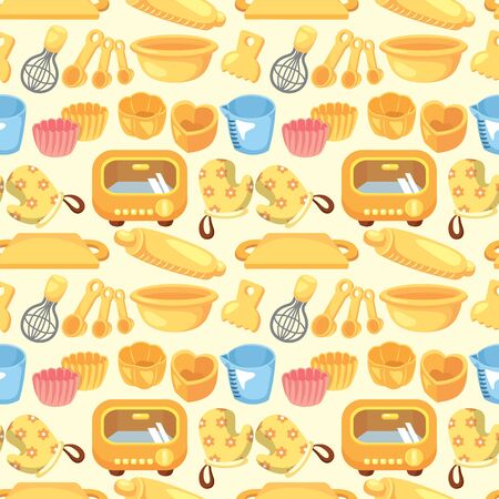 seamless bake tool pattern Vector