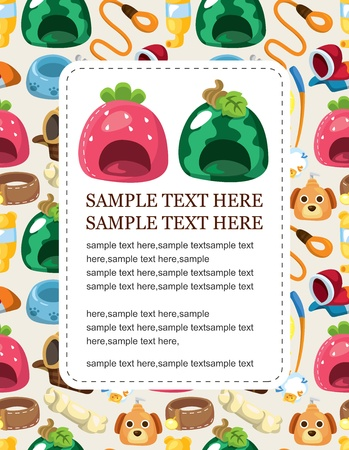 cartoon pet tool card Vector