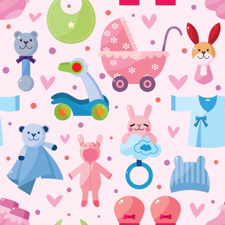 baby seamless pattern Stock Vector - 12236576